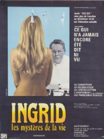Vintage French movie poster - Ingrid